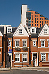 Modern new build Edwardian style homes built in the shaddow of Putney Wharf Tower. SW 15. South west London. 2007 UK