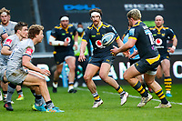 27th March 2021; Ricoh Arena, Coventry, West Midlands, England; English Premiership Rugby, Wasps versus Sale Sharks; Michael Le Bourgeois of Wasps offloads to Alfie Barbeary of Wasps