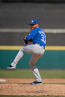 Toronto Blue Jays pitcher Hobie Harris (32) during a Florida Instructional League game against the Detroit Tigers on October 28, 2020 at Joker Marchant Stadium in Lakeland, Florida.  (Mike Janes/Four Seam Images)