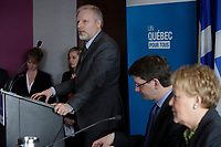 2013 File Photo  - Jean-Francois Lisee (L), Pauline Marois, Quebec Premier