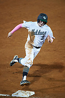 Stetson Hatters second baseman Jack Machonis (3) during a game against the Siena Saints on February 23, 2016 at Melching Field at Conrad Park in DeLand, Florida.  Stetson defeated Siena 5-3.  (Mike Janes/Four Seam Images)