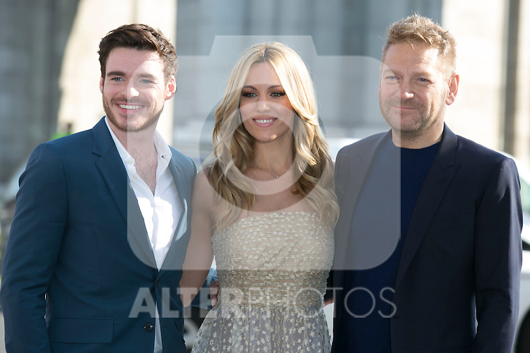 Kenneth Branagh, Richard Madden and Edurne attend the Cinderella Movie Presentation at Puerta de Alcala, Madrid,  Spain. March 16, 2015.(ALTERPHOTOS/)Carlos Dafonte)