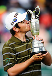 18TH JUL 2010, LOUIS OOSTHUIZEN KISSING THE CLARET JUG, AS HE WINS THE 2010 OPEN GOLF AT ST ANDREWS, ROB CASEY PHOTOGRAPHY.