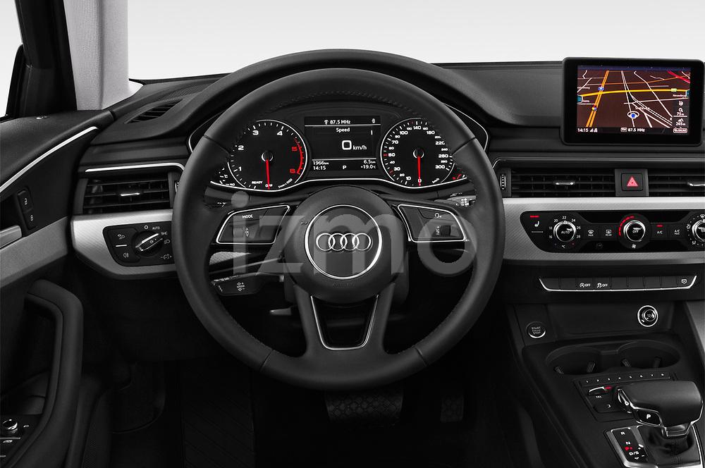 Steering wheel view of a 2019 Audi A4-Avant Design 5 Door Wagon