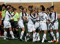USA's starting XI before the start of their Algarve Women's Soccer Cup 2008 Group B qualifying match at Municipal Stadium in Albufeira, Portugal on March 05, 2008. The United States defeated China 4-0. Paulo Cordeiro/isiphotos.com