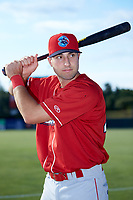 Matt Vierling (46) of the Lakewood BlueClaws poses for a photo prior to the game against the Kannapolis Intimidators at Kannapolis Intimidators Stadium on July 7, 2018 in Kannapolis, North Carolina. The Intimidators defeated the BlueClaws 4-3 in 10 innings.  (Brian Westerholt/Four Seam Images)