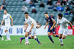 Cameron Neru of Auckland City (l) in action during the Nike Lunar New Year Cup 2017 match between SC Kitchee (HKG) and Auckland City FC (NZL) on January 31, 2017 in Hong Kong, Hong Kong. Photo by Marcio Rodrigo Machado / Power Sport Images