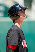 Jesse Winker (23) of the Billings Mustangs during batting practice prior to the game against the Orem Owlz at Brent Brown Ballpark on July 22, 2012 in Orem, Utah.  The Mustangs defeated the Owlz 13-8.  (Brian Westerholt/Four Seam Images)