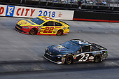 #23: Blake Jones, BK Racing, Toyota Camry Tennessee XXX Moonshine and #22: Joey Logano, Team Penske, Ford Fusion Shell Pennzoil