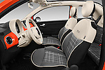 Front seat view of 2016 Fiat 500-C Lounge 2 Door Convertible Front Seat  car photos