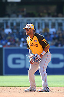 Yoan Moncada of the World Team in the field at second base during a game against the USA Team during The Futures Game at Petco Park on July 10, 2016 in San Diego, California. World Team defeated USA Team, 11-3. (Larry Goren/Four Seam Images)