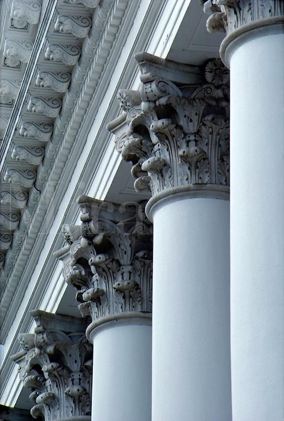 Rotunda detail showing columns and capitals.#5729. Charlottesville Virginia, University of Virginia.