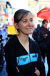 Sofie De Vuyst of Belgium at sign on for the start of the Women Elite Road Race of the UCI World Championships 2019 running 149.4km from Bradford to Harrogate, England. 28th September 2019.<br /> Picture: Eoin Clarke | Cyclefile<br /> <br /> All photos usage must carry mandatory copyright credit (© Cyclefile | Eoin Clarke)