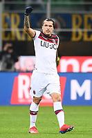Federico Santander of Bologna celebrates after scoring goal of 0-1 <br /> Milano 03-02-2019 Stadio San Siro Football Serie A 2018/2019 Inter - Bologna    <br /> Foto Image Sport / Insidefoto