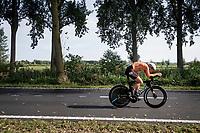 Ellen van Dijk (NED/Trek-Segafredo) powering along<br /> <br /> Women Elite Individual Time Trial from Knokke-Heist to Bruges (30.3 km)<br /> <br /> UCI Road World Championships - Flanders Belgium 2021<br /> <br /> ©kramon