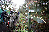 Pictured: Nathan Dyer. Tuesday 25 January 2011<br /> Re: Swansea City FC footballers and staff have spend a morning at Teamforce Paintball in Llangyfelach near Swansea south Wales.