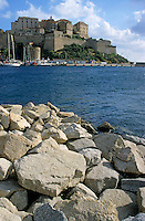 Fortified citadel above the port at Calvi on the island of Corsica, France.