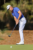 14th March 2021; Ponte Vedra Beach, Florida, USA;  Justin Thomas of the United States putts on the 14th hole during the final round of THE PLAYERS Championship on March 14, 2021 at TPC Sawgrass Stadium Course in Ponte Vedra Beach, Fl.