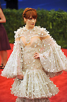 Florence Welch at the 'Schiaparelli And Prada: Impossible Conversations' Costume Institute Gala at the Metropolitan Museum of Art on May 7, 2012 in New York City. ©mpi03/MediaPunch Inc.