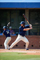 Mobile BayBears right fielder Forrestt Allday (5) at bat during a game against the Pensacola Blue Wahoos on April 26, 2017 at Hank Aaron Stadium in Mobile, Alabama.  Pensacola defeated Mobile 5-3.  (Mike Janes/Four Seam Images)