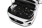 Car stock 2018 Hyundai Elantra GT GT Auto 5 Door Hatchback engine high angle detail view