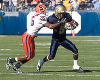 03 November 2007: Pitt wide receiver T.J. Porter (9)..The Pitt Panthers defeated the Syracuse Orange  20-17 on November 03, 2007 at Heinz Field, Pittsburgh, Pennsylvania.
