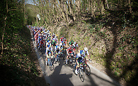 peloton up the Haagaard climb<br /> <br /> 55th Brabantse Pijl 2015