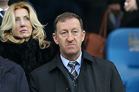 Swansea City Chairman Huw Jenkins pictured in the Directors Box ahead of the Barclays Premier League Match between Manchester City and Swansea City played at the Etihad Stadium, Manchester on 12th December 2015