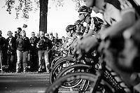 Lars Van der Haar (NLD/Giant-Alpecin) in his typical low position on the start grid<br /> <br /> Elite Men's race<br /> Koppenbergcross 2015