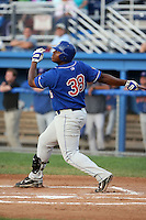August 7 2008:  First baseman Michael McDade of the Auburn Doubledays, Class-A affiliate of the Toronto Blue Jays, during a game at Dwyer Stadium in Batavia, NY.  Photo by:  Mike Janes/Four Seam Images