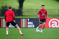 Ethan Ampadu of Wales in action during the Wales Training Session at The Vale Resort in Cardiff, Wales, UK. Monday 5 October 2020