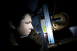 Pix: Shaun Flannery/sf-pictures.com....COPYRIGHT PICTURE>>SHAUN FLANNERY>01302-570814>>07778315553>>..3rd September 2008...............Coalfields Regeneration Trust (CRT), Skillsbuilders programme, Ecogas plumbers..Simon Howe.