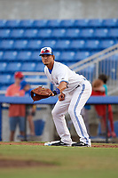 Dunedin Blue Jays first baseman Max Pentecost (10) during a game against the St. Lucie Mets on April 20, 2017 at Florida Auto Exchange Stadium in Dunedin, Florida.  Dunedin defeated St. Lucie 6-4.  (Mike Janes/Four Seam Images)
