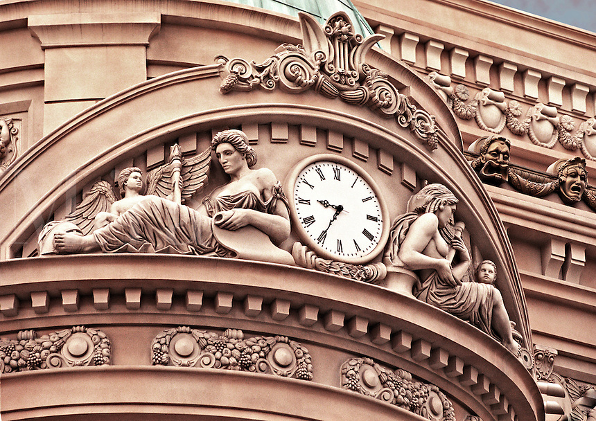 Clock with French architecture