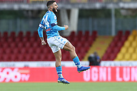 Lorenzo Insigne of SSC Napoli celebrates<br /> during the Serie A football match between Benevento Calcio and SSC Napoli at stadio Ciro Vigorito in Benevento (Italy), October 25th, 2020. <br /> Photo Cesare Purini / Insidefoto