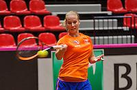 April 15, 2015, Netherlands, Den Bosch, Maaspoort, Fedcup Netherlands-Australia,   Richel Hogenkamp (NED)<br /> Photo: Tennisimages/Henk Koster
