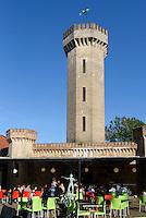 Café Castello am alten Wasserturm,  Stortorget in Karlskrona, Provinz Blekinge, Schweden, Europa, UNESCO-Weltkulturerbe<br /> Café Castello at old water tower in Karlskrona, Province Blekinge, Sweden