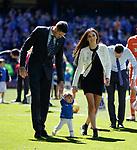 12.05.2019 Rangers v Celtic: Kyle Lafferty and family