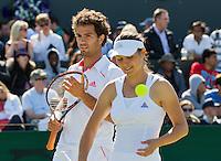 30-06-12, England, London, Tennis , Wimbledon, Jean-Julien Rojer with his mixed doubles partner Klaudia Ignacik.