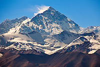 The north face of Mt. Everest (aka Chomolungma or Qomolangma) from Tibet