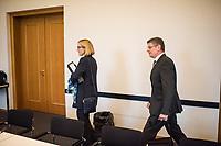 Sondersitzung des Innenausschuss des Berliner Abgeordnetenhaus am Mittwoch den 8.11.2017 zu Vorwuerfen gegen Polizeiakademie.<br /> An der Berliner Polizeiakademie soll es nach anonymen Quellen zu Vorfaellen mit Bedrohungen durch Auszubildende gegen Ausbilder, moegliche Verbindungen von Auszubildende zu Organisierten Kriminalitaet und mehr gekommen sein. Auffallend an den Aussagen der anonymen Quellen ist laut Innensenator Andreas Geisel der rassistische Grundton gegen Auszubildende mit Migrationshintergrund.<br /> Im Bild vlnr: Polizeivizepraesidentin Margarete Koppers und Polizeipraesident Klaus Kandt.<br /> 8.11.2017, Berlin<br /> Copyright: Christian-Ditsch.de<br /> [Inhaltsveraendernde Manipulation des Fotos nur nach ausdruecklicher Genehmigung des Fotografen. Vereinbarungen ueber Abtretung von Persoenlichkeitsrechten/Model Release der abgebildeten Person/Personen liegen nicht vor. NO MODEL RELEASE! Nur fuer Redaktionelle Zwecke. Don't publish without copyright Christian-Ditsch.de, Veroeffentlichung nur mit Fotografennennung, sowie gegen Honorar, MwSt. und Beleg. Konto: I N G - D i B a, IBAN DE58500105175400192269, BIC INGDDEFFXXX, Kontakt: post@christian-ditsch.de<br /> Bei der Bearbeitung der Dateiinformationen darf die Urheberkennzeichnung in den EXIF- und  IPTC-Daten nicht entfernt werden, diese sind in digitalen Medien nach §95c UrhG rechtlich geschuetzt. Der Urhebervermerk wird gemaess §13 UrhG verlangt.]