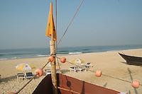 """Goa / Indien..Das Kapital von Goa der Strand am Arabischen Meer, des """"Coco Huts"""" Bar und Pension."""