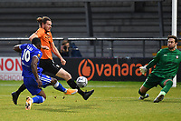 James Alabi of Bromley F.C. scores the second Goal and celebrates during Barnet vs Bromley, Vanarama National League Football at the Hive Stadium on 14th November 2020