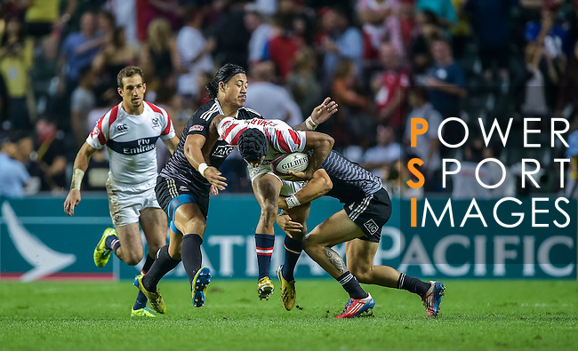 New Zealand vs United States during the Cathay Pacific / HSBC Hong Kong Sevens at the Hong Kong Stadium on 29 March 2014 in Hong Kong, China. Photo by Victor Fraile / Power Sport Images