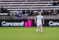 HOUSTON, TX - JANUARY 28: Becky Sauerbrunn #4 of the United States dribbles during a game between Haiti and USWNT at BBVA Stadium on January 28, 2020 in Houston, Texas.