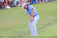 5th September 2021: Atlanta, Georgia, USA;  Justin Thomas (USA) chips onto the 18th green during the 4th and final round of the TOUR Championship  at the East Lake Club in Atlanta, Georgia.