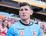 BRISBANE, AUSTRALIA - OCTOBER 30: Liam Reddy of the Glory enters the field during the round 4 Hyundai A-League match between the Brisbane Roar and Perth Glory at Suncorp Stadium on October 30, 2016 in Brisbane, Australia. (Photo by Patrick Kearney/Brisbane Roar)
