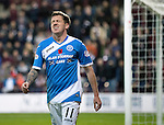Hearts v St Johnstone…05.11.16  Tynecastle   SPFL<br />Danny Swanson reacts to a missed header<br />Picture by Graeme Hart.<br />Copyright Perthshire Picture Agency<br />Tel: 01738 623350  Mobile: 07990 594431