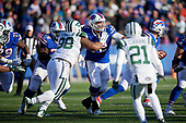 Buffalo Bills center Ryan Groy (72) blocks Mike Pennel (98) during an NFL football game against the New York Jets, Sunday, December 9, 2018, in Orchard Park, N.Y.  (Mike Janes Photography)