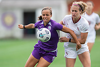 SANFORD, FL - APRIL 3: Chelsee Washington of the Orlando Pride battles for the ball during a game between Florida State Seminoles and Orlando Pride at Sylvan Park Training Center on April 3, 2021 in Sanford, Florida.